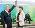 Rousseff says Lula's candidacy and future win will mean a shift towards a democratic government in Brazil. Archive photo.
