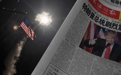 "Chinese state-owned daily Global Times noted how the missile strikes are ""an embodiment of the U.S. supremacy."""