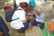 Cuban health professionals are treating flood victims in the Piura region of Peru.