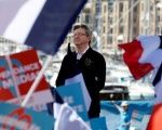 Jean-Luc Melenchon, candidate for the 2017 French presidential election, delivers a speech during a political rally in Marseille, France, April 9, 2017.