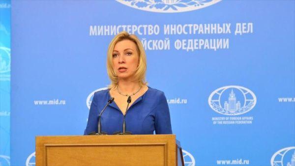 """La portavoz del Ministerio de Exteriores de Rusia, María Zajárova, consideró que las declaraciones de EE.UU. """"agravan la situación en Venezuela""""."""