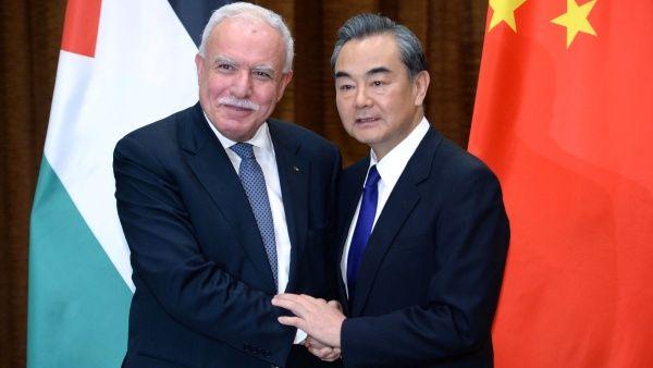 Los cancilleres de Palestina y China se reunieron en Pekín.