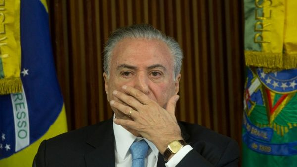 Temer habría avalado comprar el silencio del exparlamentario Eduardo Cunha.