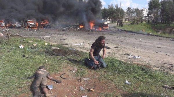 La fotografía fue publicada en Twitter por la usuaria Ala'a Shehabi pocas horas después del atentado