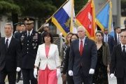 U.S. Vice President Mike Pence at the National Cemetery in Seoul, South Korea.