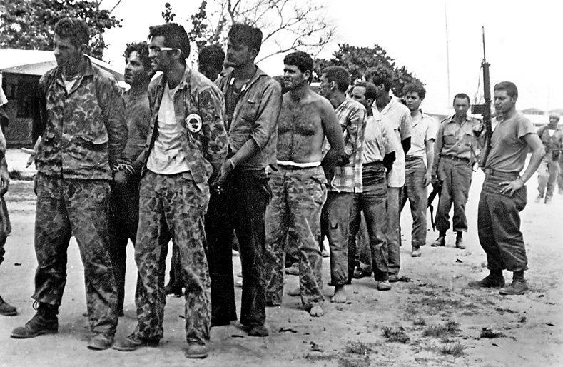 Cuban counter-revolutionaries in 1961, after their capture at the Bay of Pigs.