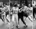 Race official Jock Semple tried to forcibly remove Switzer from the then all-male Boston Marathon.