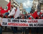 The MST led protests across Brazil on April 17.