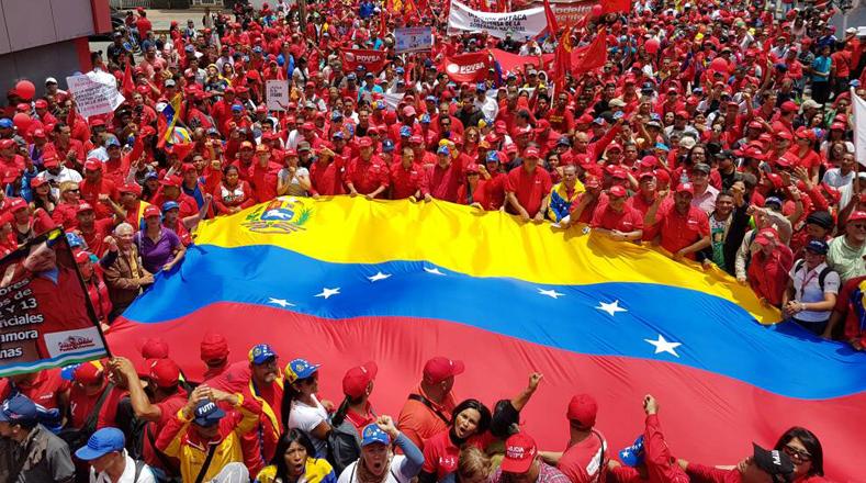 La actividad oficialista cuenta con el apoyo de la juventud revolucionaria, defensores de los logros del Gobierno bolivariano.