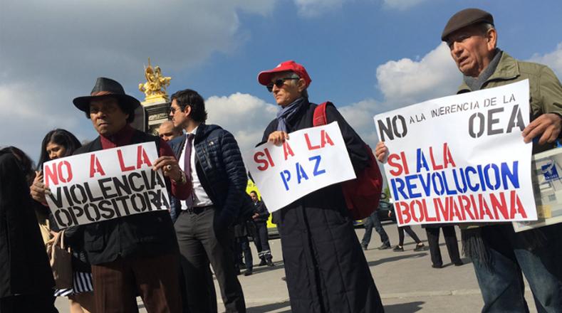 La iniciativa de la Jornada de Solidaridad partió del Foro de Sao Paulo y tuvo lugar en las embajadas de Venezuela en todo el mundo, además de sedes en partidos políticos progresistas y universidades.