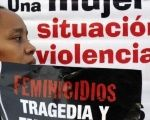 A woman protests against femicide in Latin America.