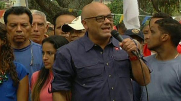 El alcalde de Caracas, Jorge Rodríguez, denunció las acciones de la oposición.