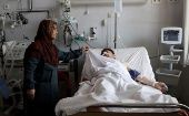An Afghan national Army (ANA) soldier receives treatment at a hospital a day after a attack on an army headquarters in Mazar-i-Sharif northern Afghanistan April 22, 2017.