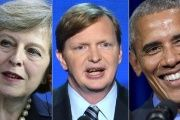 May has hired Jim Messina, a former top Obama aide.