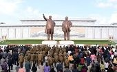 People mark the 85th founding anniversary of the Korean People