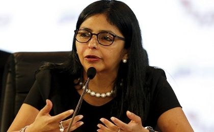 Foreign Minister of Venezuela Delcy Rodriguez.