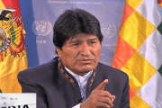 Evo Morales in an interview with teleSUR from New York