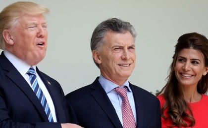 U.S. President Donald Trump next to Argentina