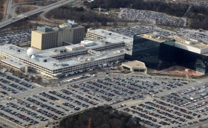 An aerial view shows the National Security Agency (NSA) headquarters in Ft. Meade, Maryland, U.S. on January 29, 2010.