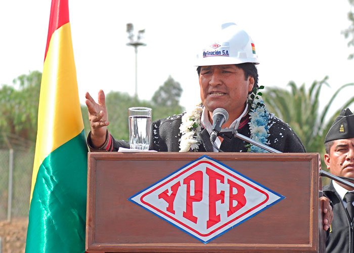 La nacionalización del petróleo y el gas consolidó el avance económico de Bolivia.