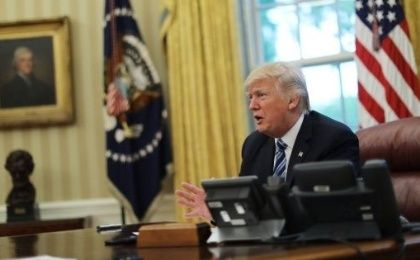 U.S. President Donald Trump in the White House.