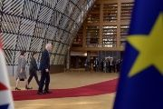 European Chief Negotiator for Brexit, Michel Barnier arrives at a EU summit in Brussels, April 29, 2017.