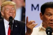Trump (left) and Duterte (right).