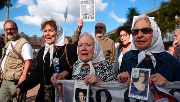 The Mothers of Plaza de Mayo march against the military commanders who had planned the systematic murder of thousands.