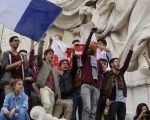French students demonstrated in 2014 against the FN.