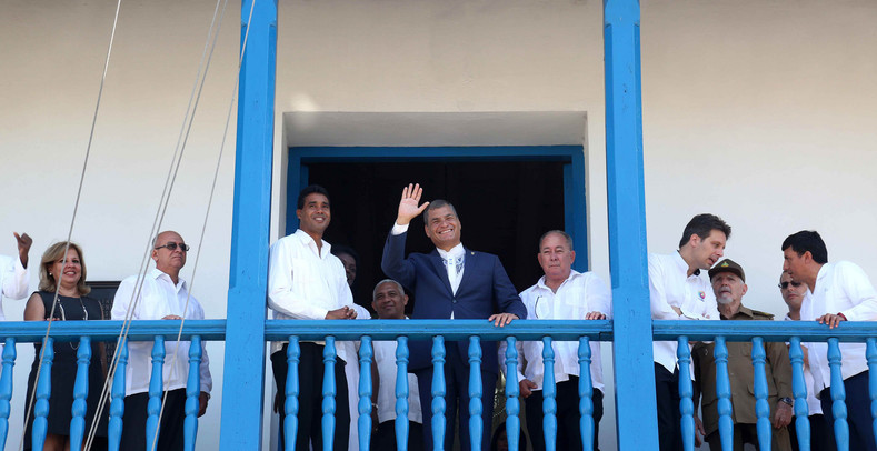 "Correa was declared an ""Illustrious Child of the City of Santiago de Cuba"" on his first day in Cuba."