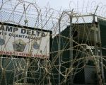 The front gate of Camp Delta is shown at the Guantanamo Bay Naval Station in Cuba.