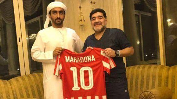 Maradona será el DT de club en Emiratos Árabes Unidos