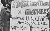 "Women protesting the ""Sterilization of Mothers"" in 1971."
