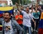 Venezuelan opposition protesters demonstrate against the administration of President Nicolas Maduro.
