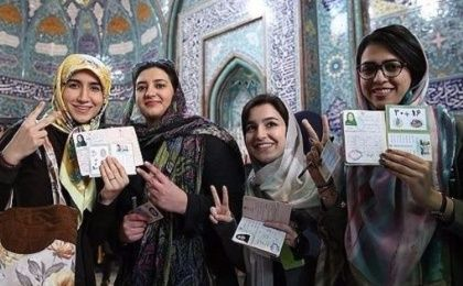 Voting in Iran´s 2016 parliamentary elections.