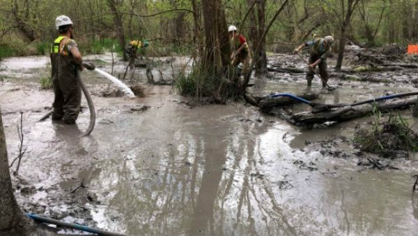 Cleanup after Energy Transfer Partners spilled 2 million gallons of drilling lubricant.