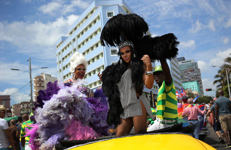 Cubans take part in a celebration of sexual diversity and equality.