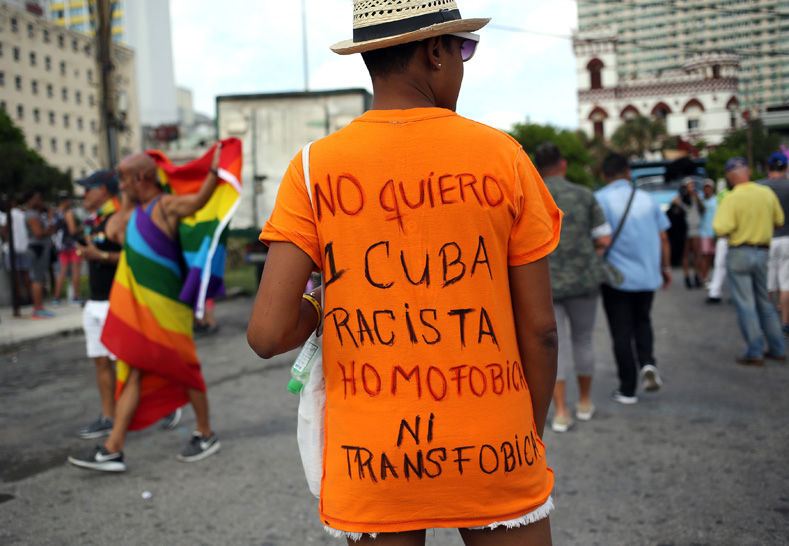 The Cuban people reject anti-gay, anti-trans and racist backwardness.
