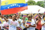 Young Sandinistas gathered to show support fo the Bolivarian Revolution in Managua