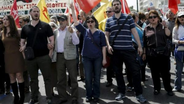 Greeks protest austerity cuts, May 17, 2017.