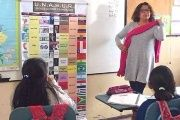 Silvana Moreno teaches a class at the National Institute of Hearing and Language in northern Quito.