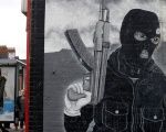 A paramilitary mural is seen on a wall in East Belfast in Northern Ireland this week.