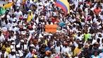 Demonstrators march in Buenaventura, Colombia, May 21, 2017.