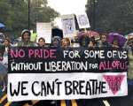 Black Lives Matter contingent of queer and trans people of color disrupt the 2015 North Carolina Pride Parade.