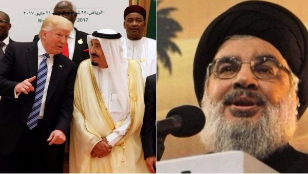 """""Isn't he the first president to forbid Muslims from eight countries to enter U.S.?"" Nasrallah asked."