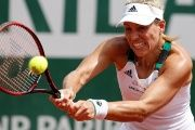 Germany's Angelique Kerber in action during her first round match against Russia's Ekaterina Makarova.