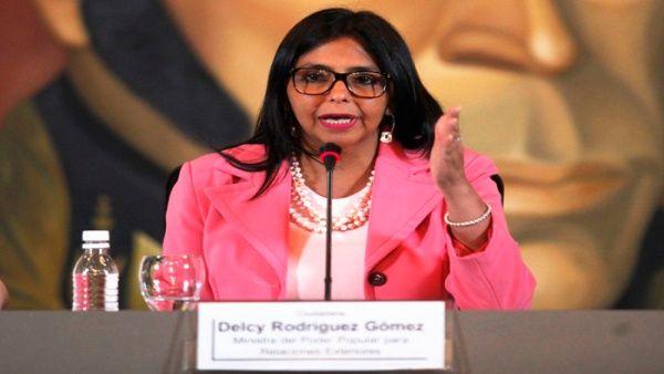 La canciller dijo que la OEA apoya la propagación de la violencia en Venezuela.