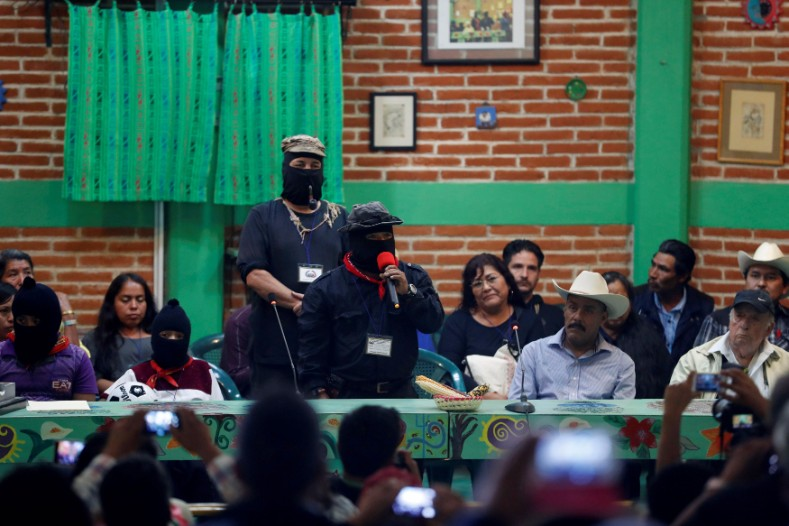 The EZLN had an ideological separation from the Mexican state for over 2 decades, and refused to take part in activities of the state, including elections