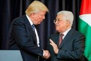 Trump (L) and Abbas first met on May 3 at the White House when the U.S.