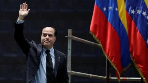 "Opposition led National Assembly leader accused Goldman Sachs of supporting the ""dictatorship"" of President Maduro."